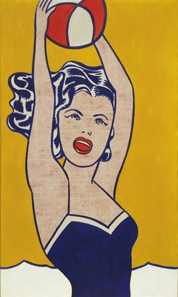 Roy Lichtenstein Girl With Ball 1961